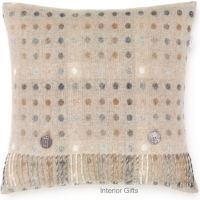 BRONTE by Moon Cushion - Natural Spot Merino Lambswool