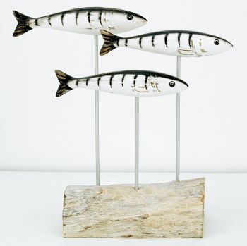 Archipelago Tripe Mackerel Block Wood Carving