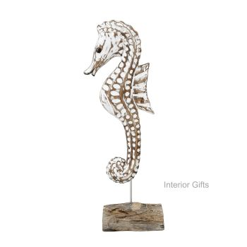 Archipelago Single Sea Horse Small Wood Carving