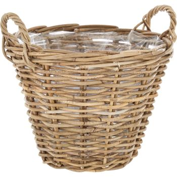 Wicker Basket Planter / Plant Pot with handles - X Large