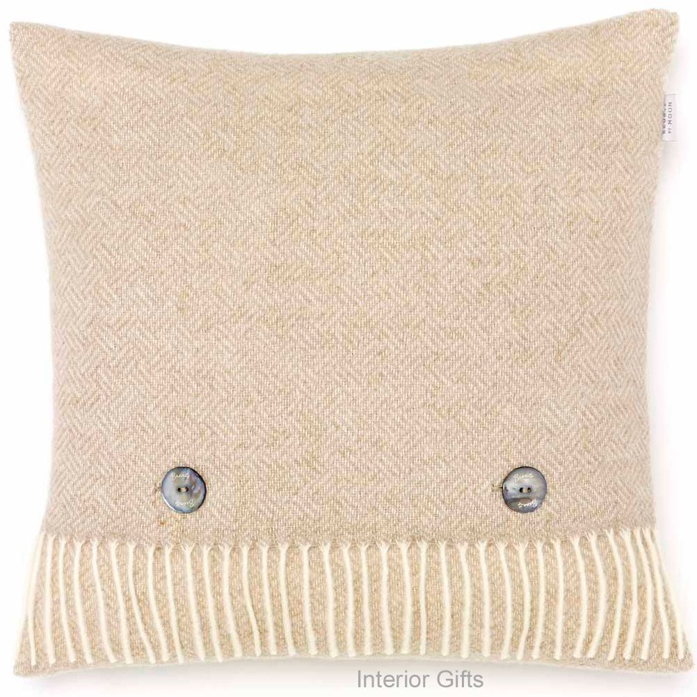 BRONTE by Moon Cushion - Parquet Beige Merino Lambswool