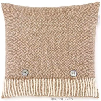 BRONTE by Moon Cushion - Parquet Camel Merino Lambswool