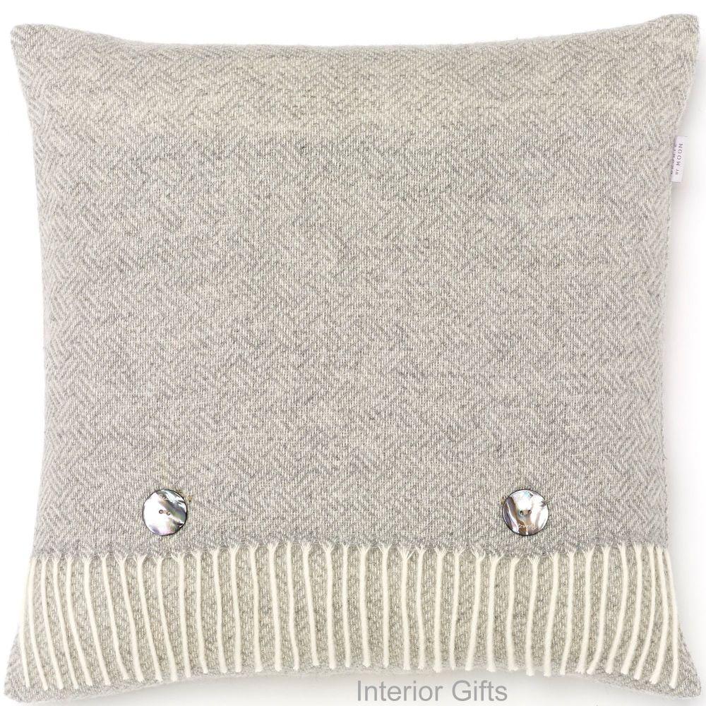 BRONTE by Moon Cushion - Parquet Grey Merino Lambswool