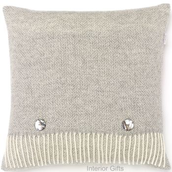 BRONTE by Moon Cushion - Parquet Grey Merino Lambswool