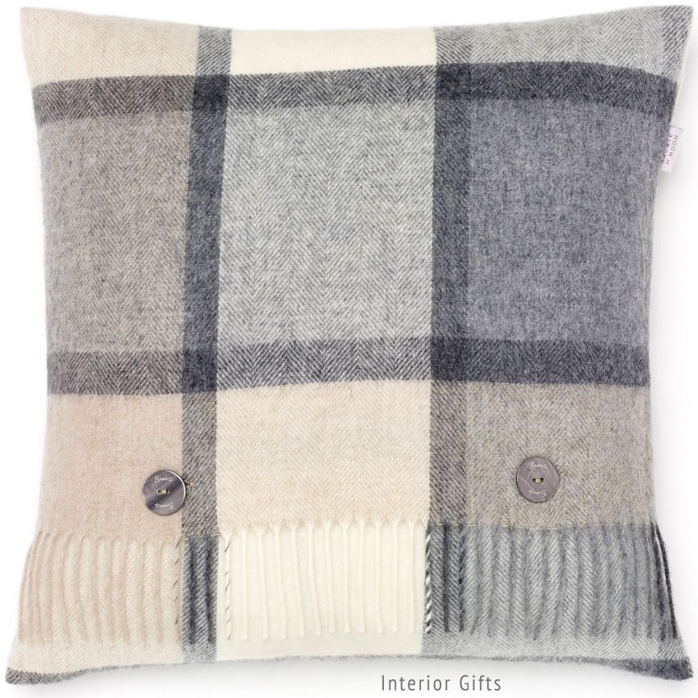 BRONTE by Moon Cushion - Pink Melbourne Check Shetland Wool