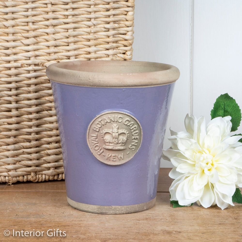 Kew Long Tom Pot in Brassica Lavender - Royal Botanic Gardens Plant Pot - M