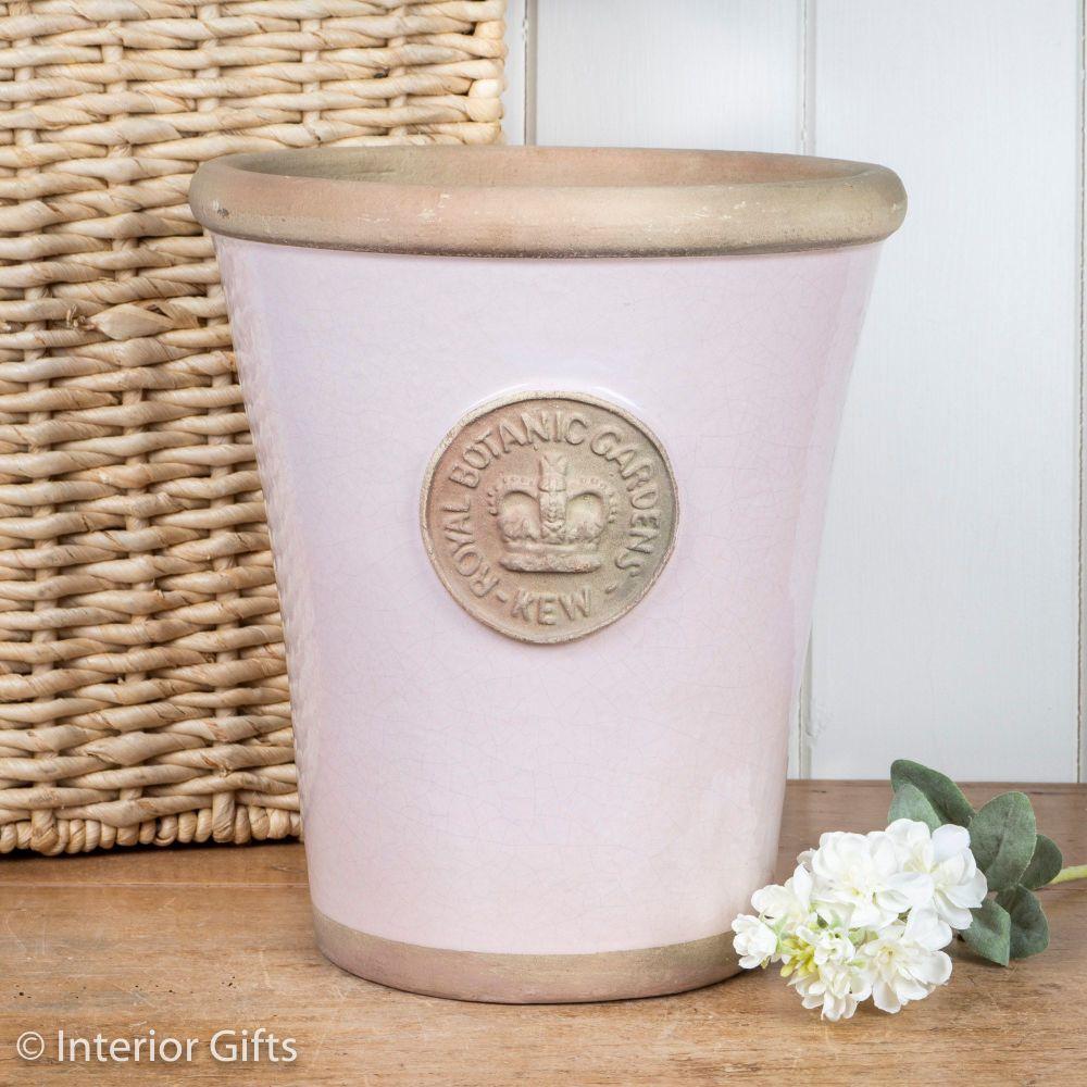 Kew Long Tom Pot in Calamine Pink - Royal Botanic Gardens Plant Pot - Large