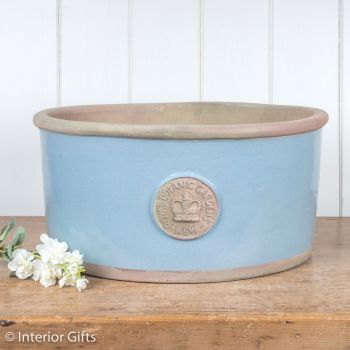 Kew Oval Planter in Scandinavia Blue - Royal Botanic Gardens Plant Pot - Large