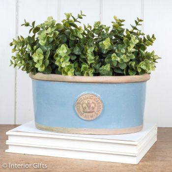 Kew Oval Planter in Scandinavia Blue - Royal Botanic Gardens Plant Pot - Small