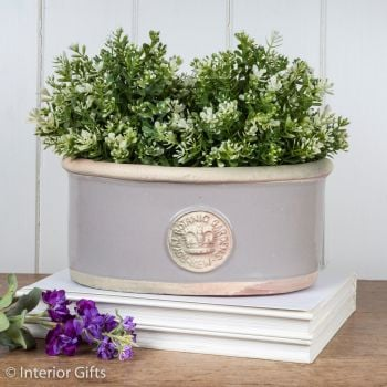 Kew Oval Planter in Almond - Royal Botanic Gardens Plant Pot - Small