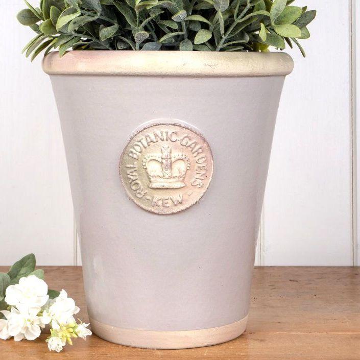 Kew Grande Pot in Almond - Royal Botanic Gardens Plant Pot - 44 cm H