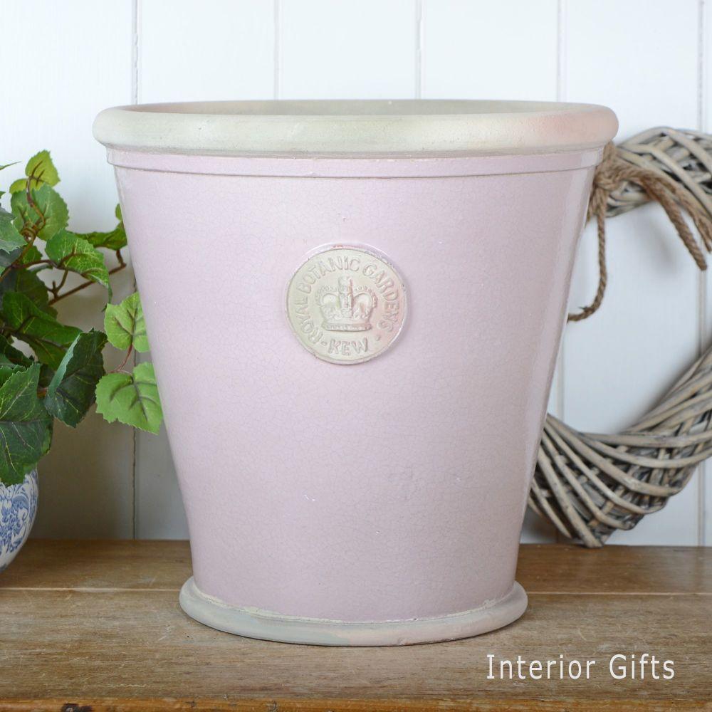 Kew Orangery Pot Powder Pink - Royal Botanic Gardens Plant Pot - 35 cm H