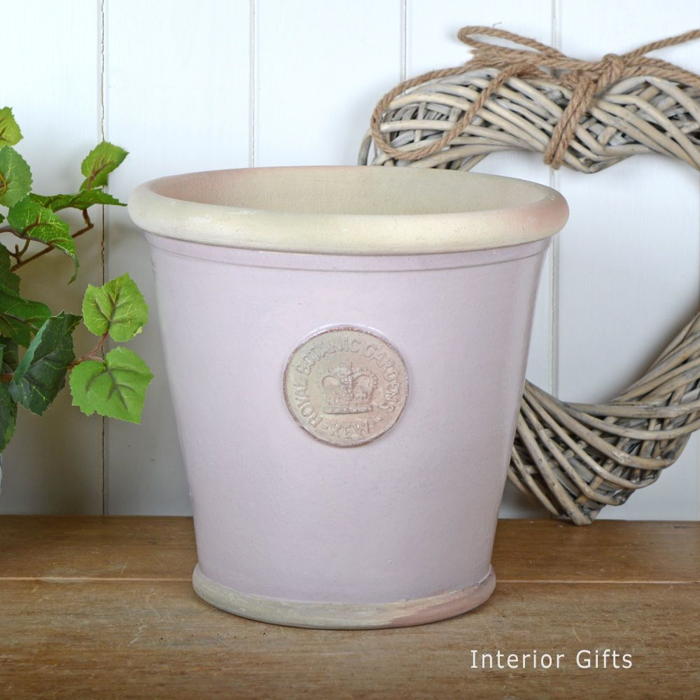 Kew Orangery Pot in Powder Pink - Royal Botanic Gardens Plant Pot - 27 cm H