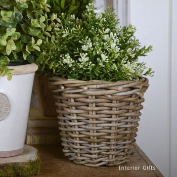 Wicker Basket Planter / Plant Pot  - Small