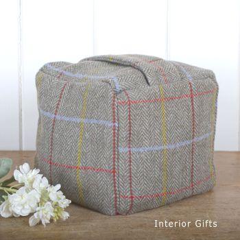 Fabric Tweed Square Doorstop