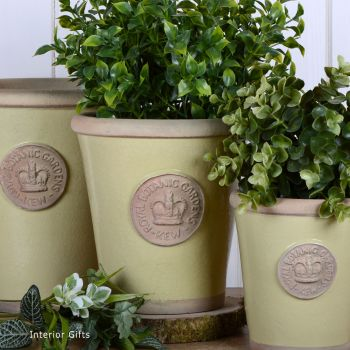 Kew Long Tom Pot in Churlish Green - Royal Botanic Gardens Plant Pot - Medium