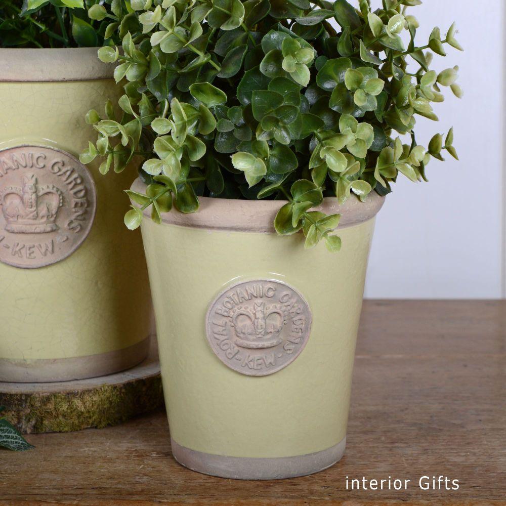 Kew Long Tom Pot in Churlish Green - Royal Botanic Gardens Plant Pot - Smal