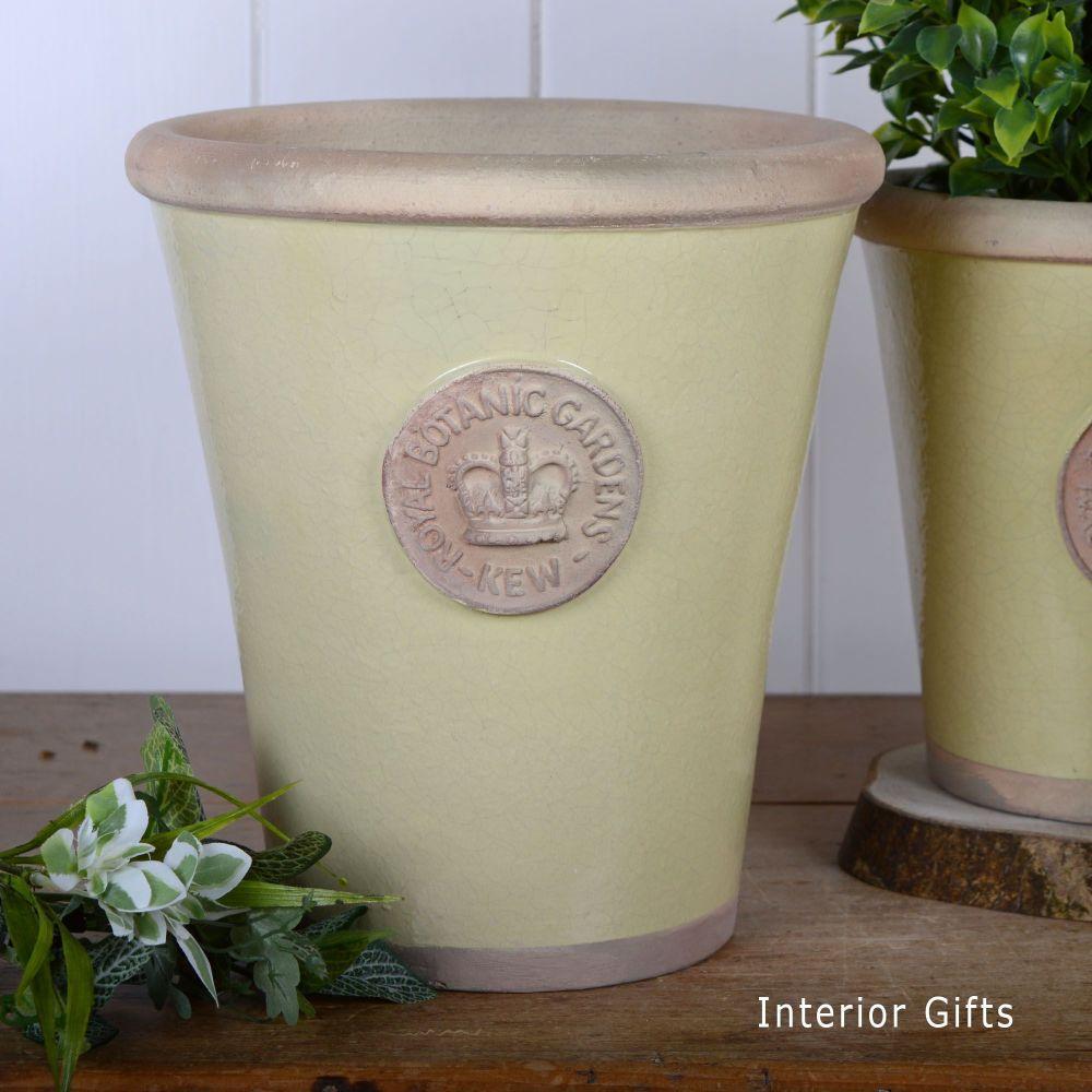 Kew Long Tom Pot in Churlish Green - Royal Botanic Gardens Plant Pot - Larg
