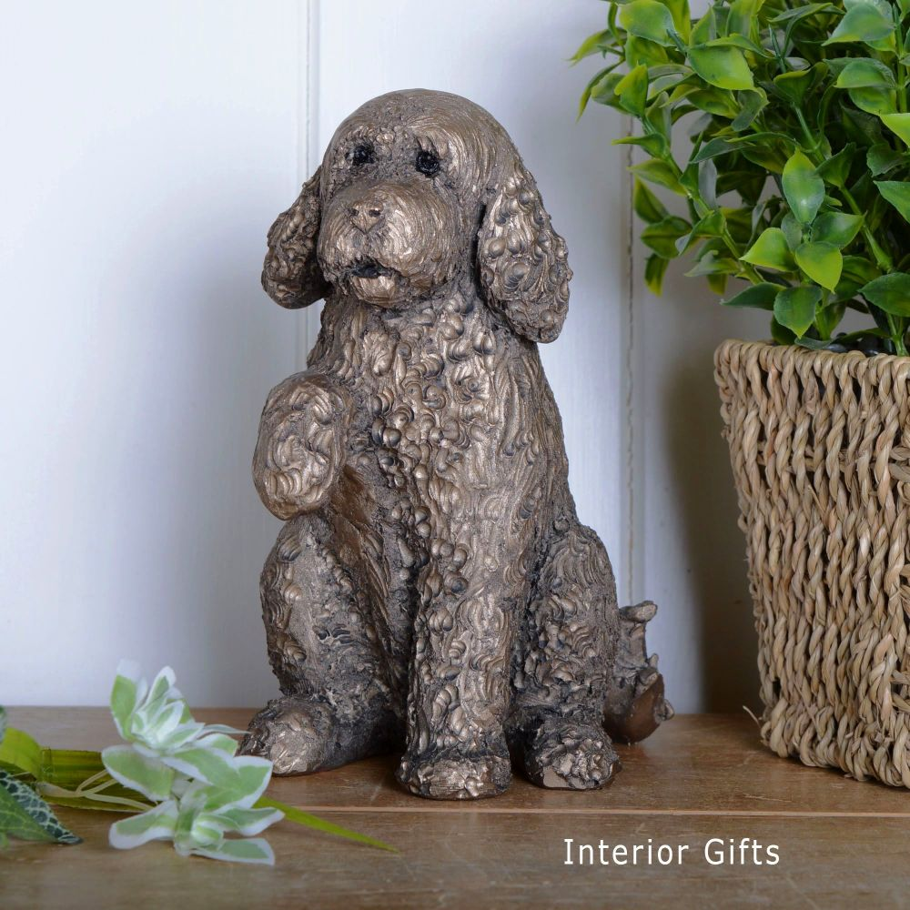 CLOVER  COCKAPOO Paw Up Frith Bronze Sculpture by Adrian Tinsley *NEW*