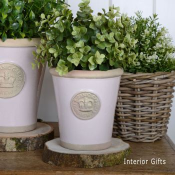 Kew Long Tom Pot in Calamine Pink - Royal Botanic Gardens Plant Pot - Small
