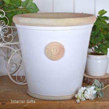 Kew Orangery Pot Bone White - Royal Botanic Gardens Plant Pot - 35 cm H