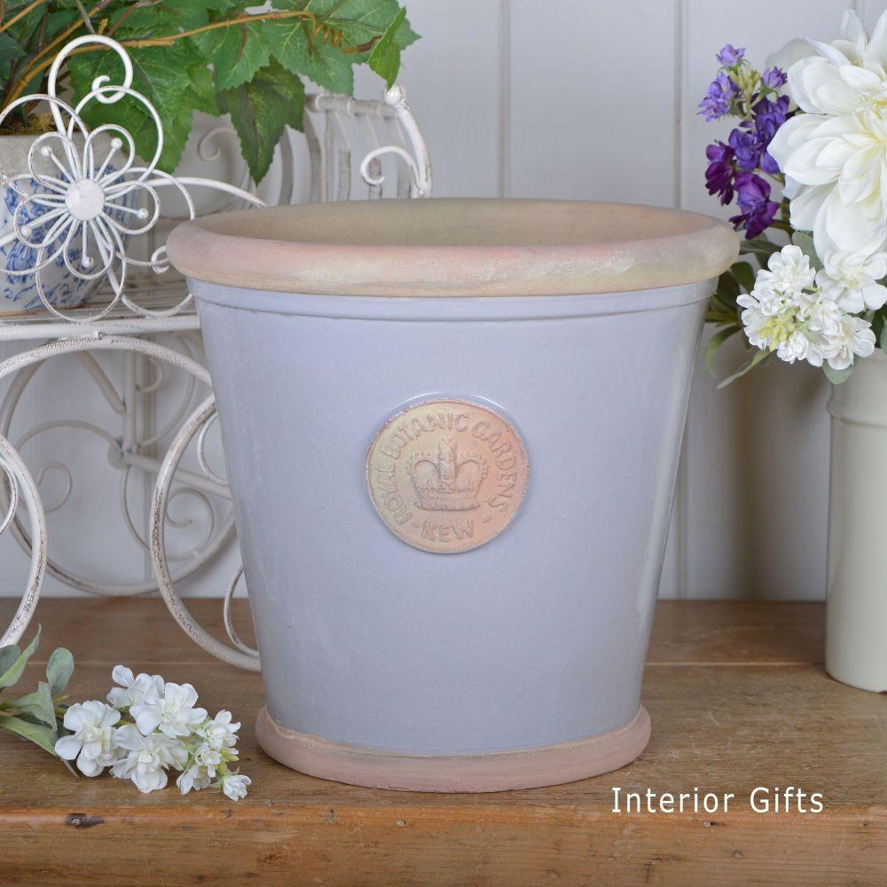 Kew Orangery Pot Light Dove Grey - Royal Botanic Gardens Plant Pot - 27 cm