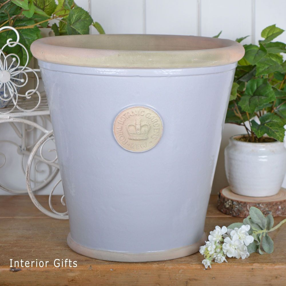 Kew Orangery Pot Light Dove Grey - Royal Botanic Gardens Plant Pot - 35 cm