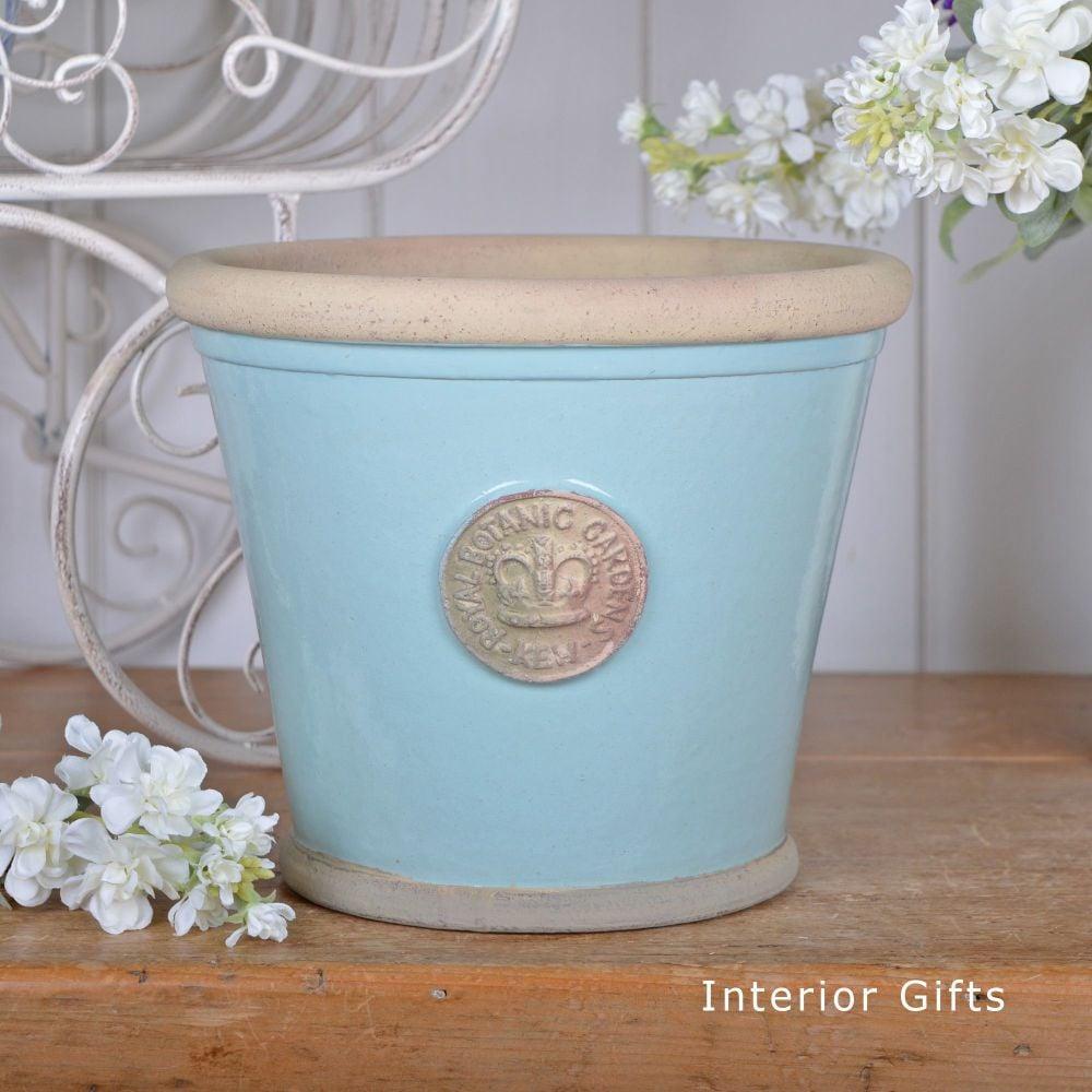 Kew Orangery Pot Tiffany Blue - Royal Botanic Gardens Plant Pot - 19 cm H
