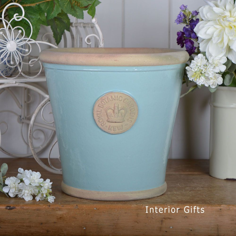 Kew Orangery Pot Tiffany Blue - Royal Botanic Gardens Plant Pot - 27 cm H