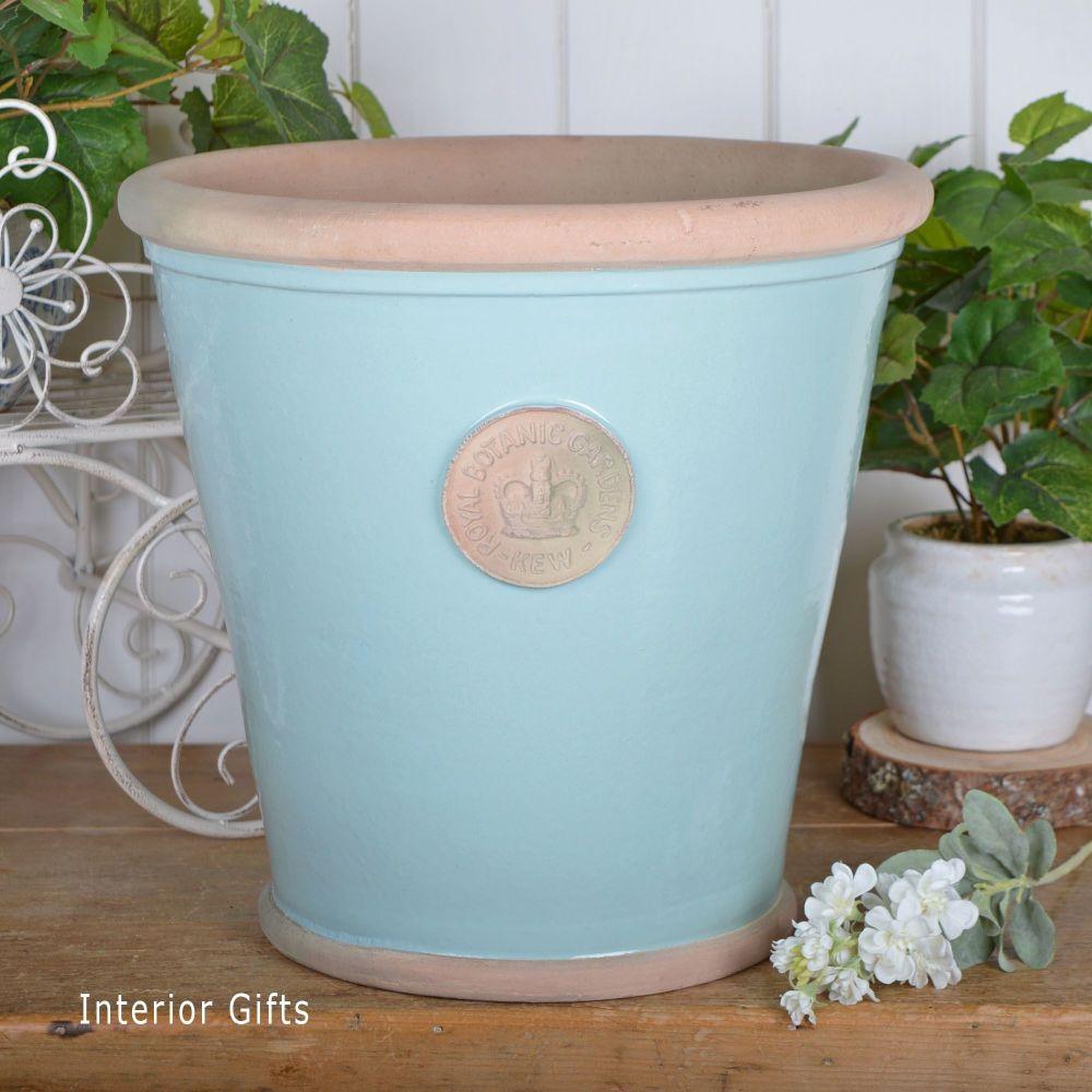Kew Orangery Pot Tiffany Blue - Royal Botanic Gardens Plant Pot - 35 cm H