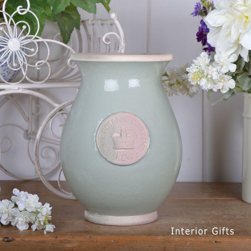 Kew Royal Botanic Gardens Shaped Vase Chartwell Green - Small 27cm H