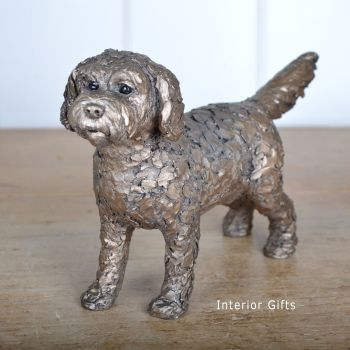 SPARKY COCKAPOO Standing Frith Bronze Sculpture by Adrian Tinsley *NEW*
