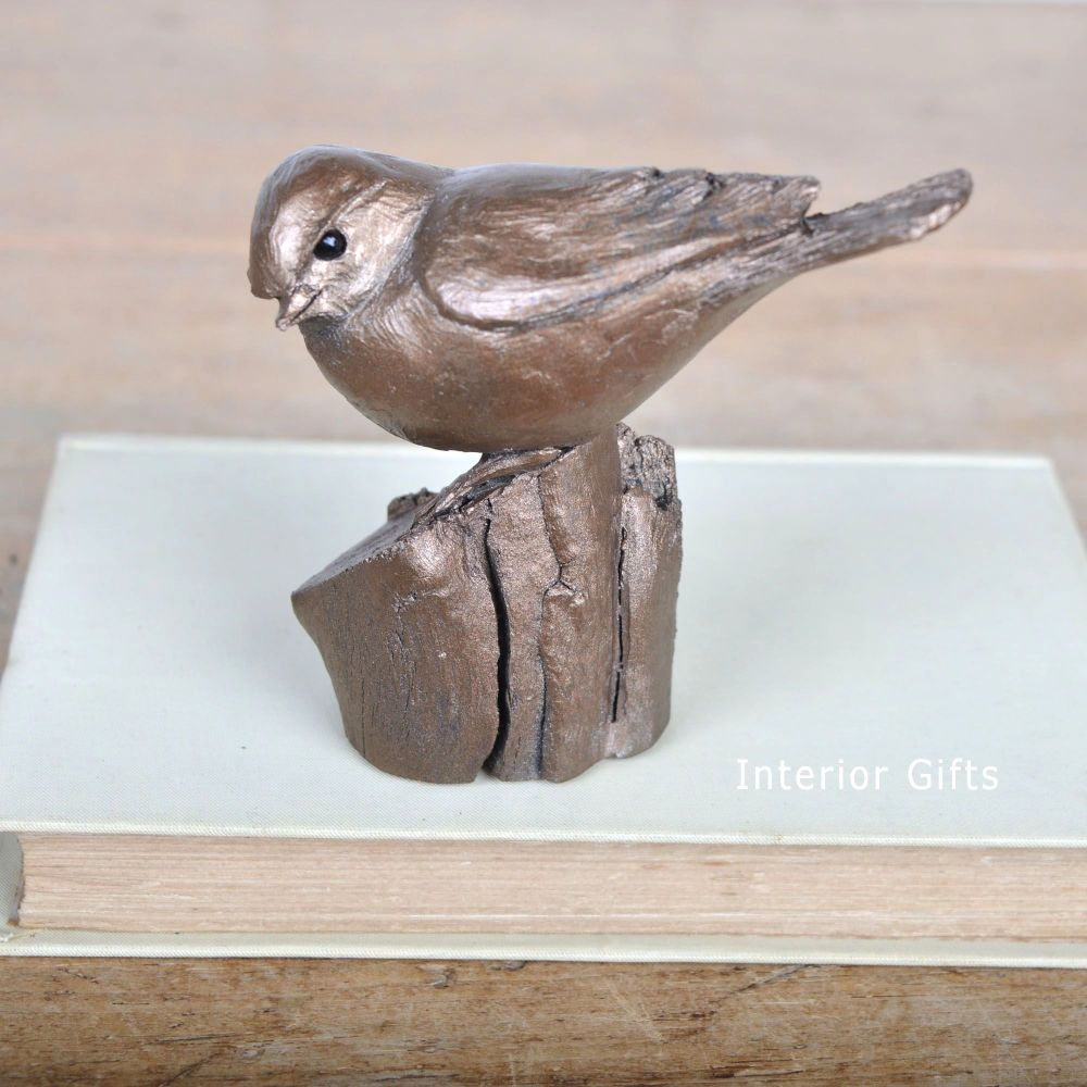 Blue Tit Frith Bronze Sculpture by Thomas Meadows