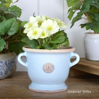Kew Royal Botanic Gardens Footed Vase in Duck Egg Blue - Small