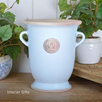 Kew Royal Botanic Gardens Footed Vase in Duck Egg Blue - Tall