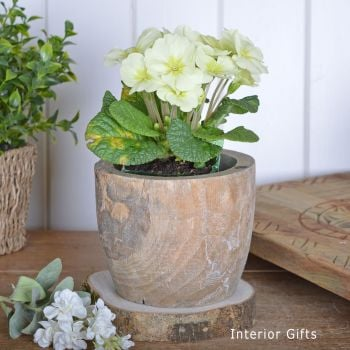 Rustic Wooden Plant Pot