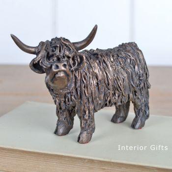 HIGHLAND COW Standing  Junior Frith Bronze Sculpture by Veronica Ballan