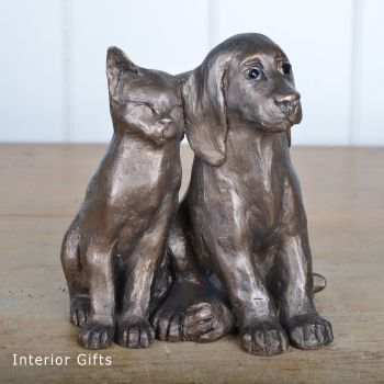 Jack & Millie Lets Be Friends Frith Bronze Sculpture by Paul Jenkins
