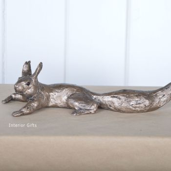 Red Squirrel - Tree and Shelf Use - Frith Bronze Sculpture by Thomas Meadows