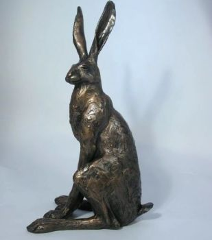 Sitting Hare Large Frith Bronze Sculpture by Paul Jenkins