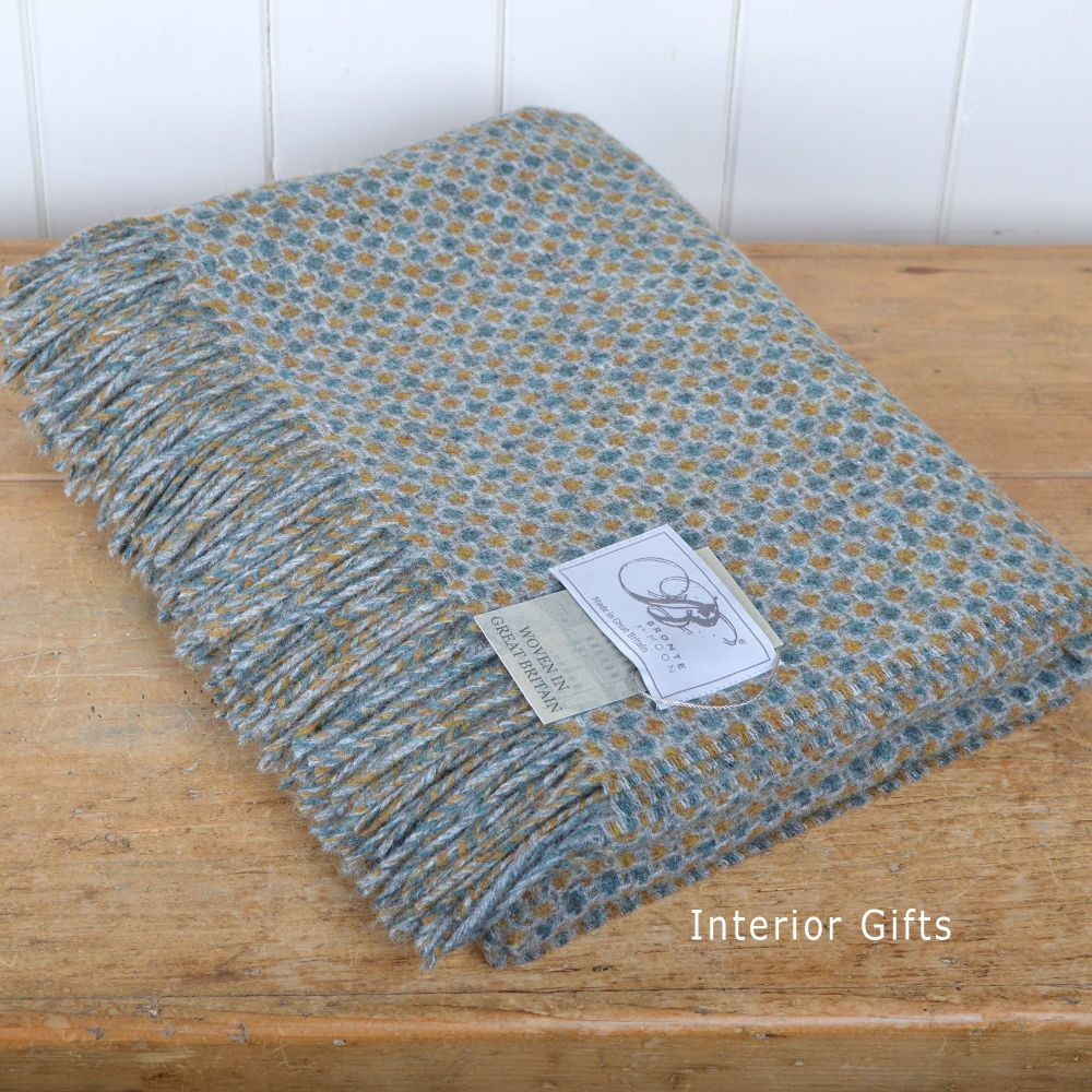 BRONTE by Moon Croft Sorrel Throw in Merino Lambswool