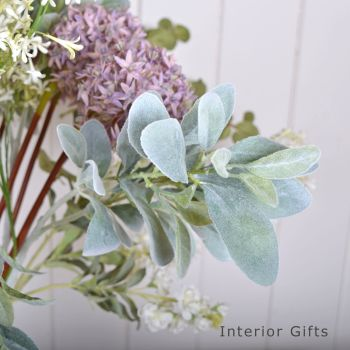 Faux Lambs Ear Spray Grey Green 71 cm