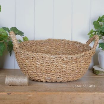 Seagrass Round Basket with handles - Large