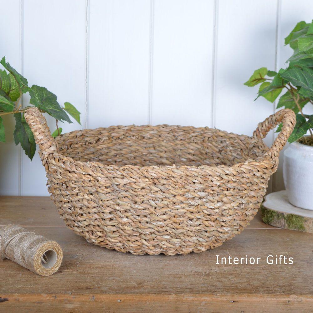 Seagrass Round Basket with handles - Medium