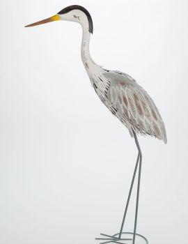 Archipelago Heron Standing - Metal Garden Bird Sculpture