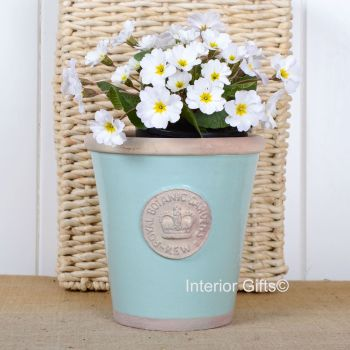 Kew Long Tom Pot in Tiffany Blue - Royal Botanic Gardens Plant Pot - Medium