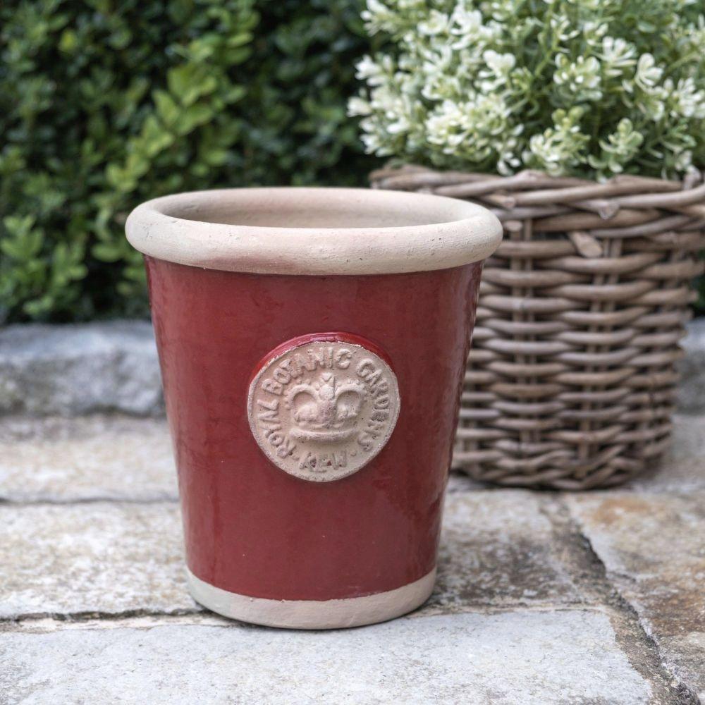 Kew Long Tom Pot in Berry Red - Royal Botanic Gardens Plant Pot - Small