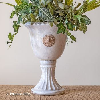 Kew Footed Urn in Old White - Royal Botanic Gardens Plant Pot - Small