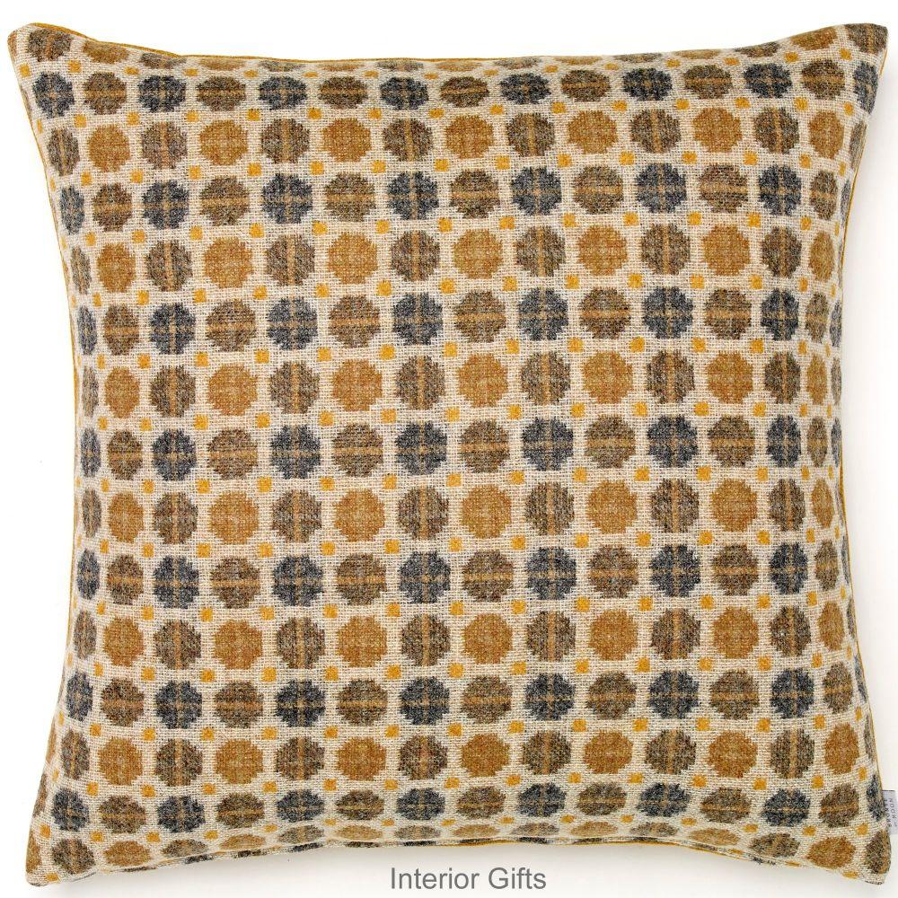 BRONTE by Moon Cushion - Gold Milan Large Shetland Wool 23