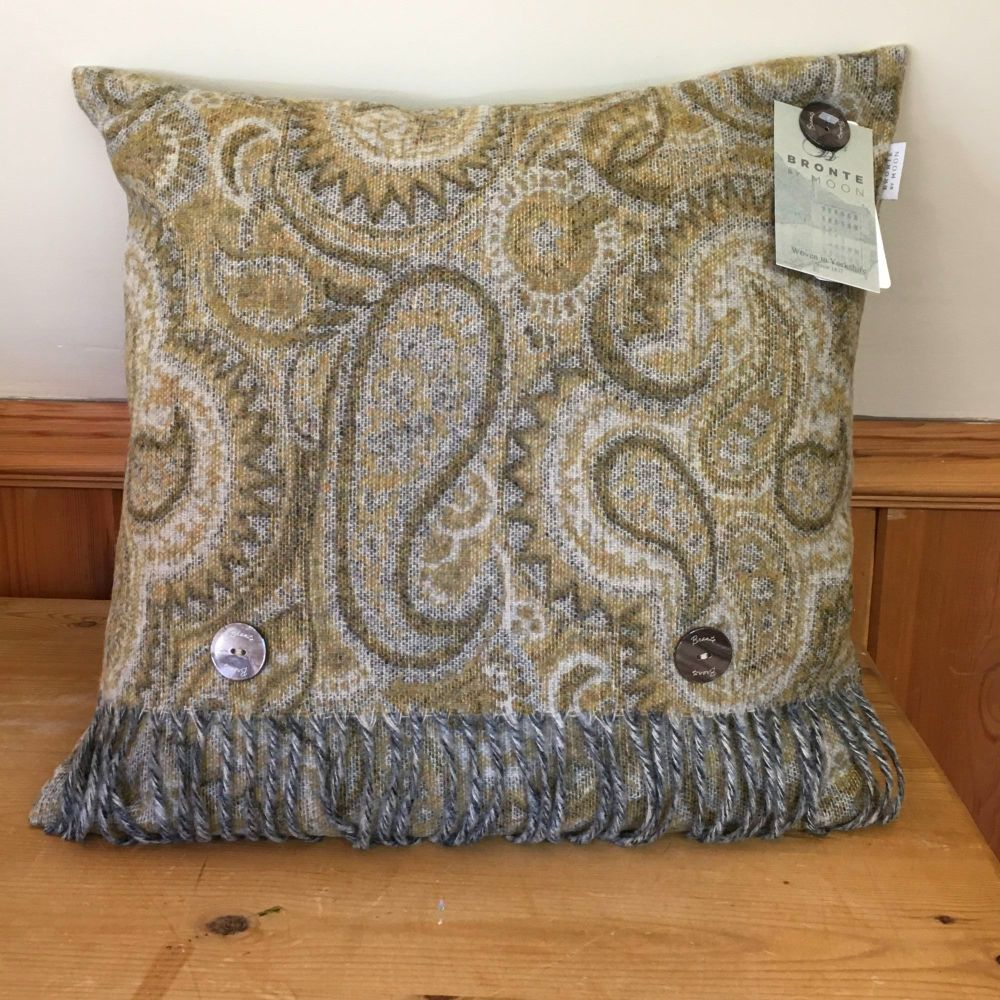 BRONTE by Moon Cushion - Paisley Ochre Lambswool